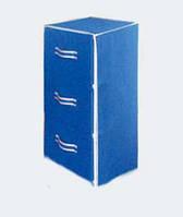 Комод текстильный 3 ящика   38*38*72 см