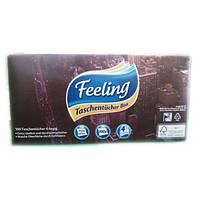 Сухие салфетки в коробке Feeling 4 слоя, 100 шт