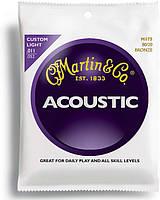 Струны MARTIN M175 Traditional Acoustic 80/20 Bronze Custom Light (11-52)