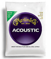 Струны MARTIN M180 Traditional Acoustic 80/20 Bronze Extra Light 12-String (10-47)