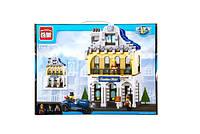 Детский конструктор brick 1127 Отель 628 деталей 6+лет разобраный в коробке 43*32*6,5 см