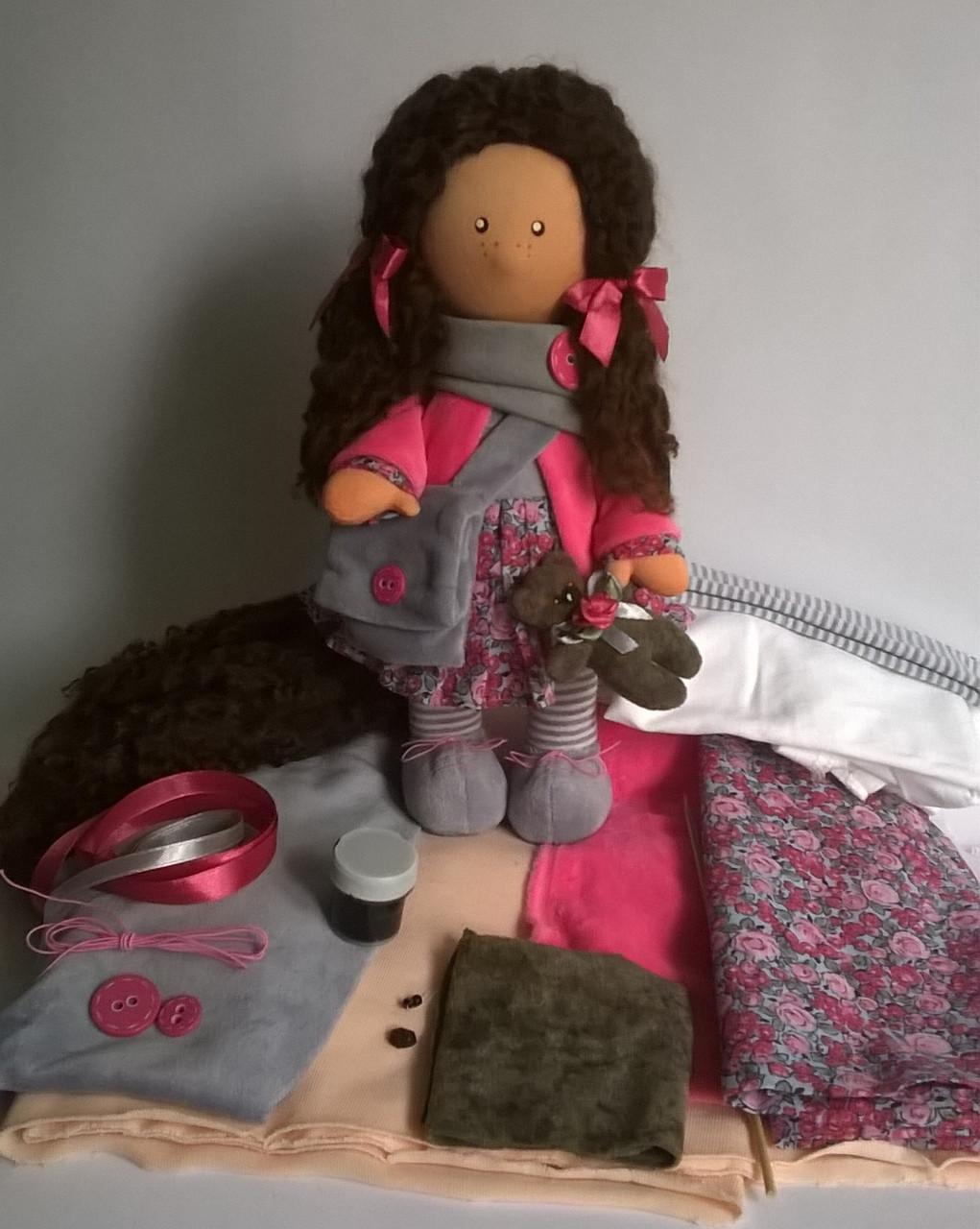 Готовый набор для пошива куклы кудряшки