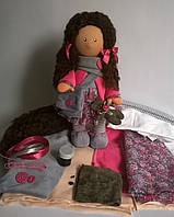 Готовый набор для пошива куклы кудряшки , фото 1