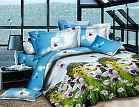 Семейный комплект постельного белья ранфорс Горный цветок