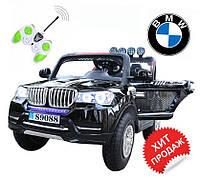 Детский электромобиль BMW TY8088B(Резиновые колеса,Черн,Красн)