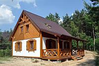 Деревянный дом под ключ, 55кв.м.