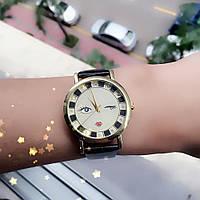 Часы наручные женские оригинальный циферблат чёрные