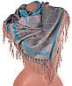 Замечательный женский двусторонний палантин из пашмины 174 на 70 см ETERNO (ЭТЕРНО) ES0406-8-27 бежевый