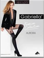 Колготы, колготки женские с узором Gabriella  Aurora с имитацией чулок