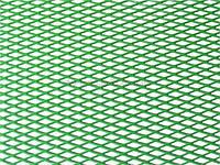 Решетка алюминиевая для тюнинга 100 х 25 см зеленая (крупная ячейка)