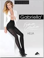 Колготы, колготки женские плотные черные с узором Gabriella Helia 100 den
