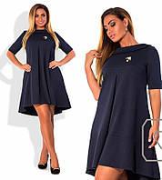 Платье трикотажное разлетайка в расцветках 11491, фото 1
