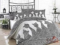 Комплект постельного белья 200х220 HOBBY Poplin Jazz серый