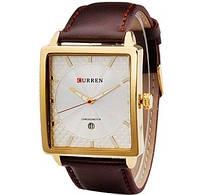 Мужские часы CURREN 8117 Gold & White бело-золотые