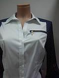 Блуза боди женское комбидрез, Стильная боди-блузка с длинным рукавом, Турция, фото 3