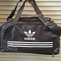 Сумка дорожная, спортивная Adidas, Адидас черная (45*26) ( код: IBS058sB )