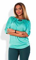 Блузка с брошкой в расцветках 11494, фото 1