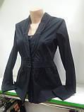 Блузка женская, Черная блуза, на пуговицах, длинный рукав, рубашечнный коттон, фото 2