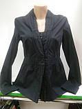 Блузка женская, Черная блуза, на пуговицах, длинный рукав, рубашечнный коттон, фото 3