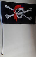 """Пиратский флажок """"Весёлый Роджер"""" 29*18 см."""
