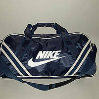 Сумка дорожная, спортивная Nike, Найк темно-синяя (61*34)