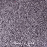 Трикотажное полотно футер 3х.н начес, хб/пэ пенье 70/30, антрацит