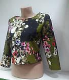 Блузка женская Топ укороченный, три четверти рукав,Турция, фото 2
