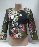 Блузка женская Топ укороченный, три четверти рукав,Турция, фото 3
