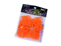 Светло-оранжевые резинки для плетения