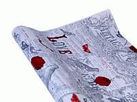 Бумага для упаковки Подарков (Крафт - VINTAGE красная  роза )