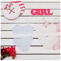 Комплект детского белья для девочек ТМ Фламинго (майка+трусики) артикул 296-412