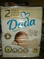 НОВИНКА Подгузники Dada Premium 2 (3-6 кг) - 74 шт. Dada 2 размер