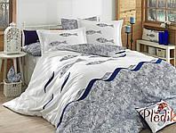 Комплект постельного белья 200х220 HOBBY Poplin Blues голубой