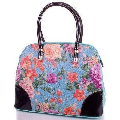 Женская оригинальная сумка из качественного кожезаменителя ANNA&LI (АННА И ЛИ) TUP14146-5  (бирюзовый)