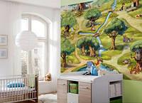 Фотообои на плотной полуглянцевой бумаге для стен 184*254 см из 4 листа: Детские, Лес Винни Пуха