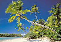 Фотообои на плотной полуглянцевой бумаге для стен 368*254 см из 8 листов: Моря, реки, озера, океаны, Остров Ку