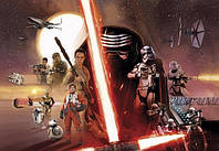 Фотообои на плотной полуглянцевой бумаге для стен 368*254 см из 8 листов: Детские, Звездные войны Эпизод 7 Коллаж