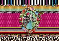 Фотообои на плотной полуглянцевой бумаге для стен 368*254 см из 8 листов: Цветы, МеллиМелло зебра