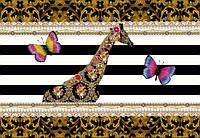 Фотообои на плотной полуглянцевой бумаге для стен 368*254 см из 8 листов: Цветы, МеллиМелло Жираф
