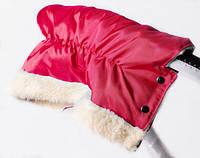 Муфта на коляску или санки из Польской ткани красная