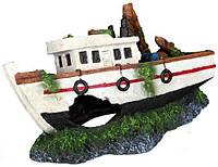 "Trixie TX-87818 Грот ""Рыбацкая лодка"", 15 см-декорация для аквариума"