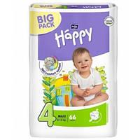 Подгузники Bella Happy 4 Maxi (8-18кг) BIG PACK 66шт В НОВОМ ДИЗАЙНЕ