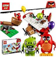 Конструктор Lepin серия Angry Bird 19002 Самолетная атака свинок (Аналог Lego Angry Birds 75822)