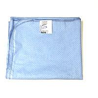 Ситцевая  пеленка (голубая в белый горошек)