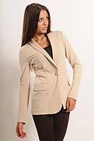 Классический женский пиджак классика на одной пуговице черный,бежевый.