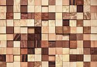 Фотообои на плотной полуглянцевой бумаге для стен 368*254 см из 8 листов: Абстракция, Деревянная плитка