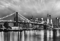 Фотообои на плотной полуглянцевой бумаге для стен 368*254 см из 8 листов: Города, Бруклинский мост