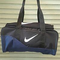 Спортивная, дорожная сумка Nike, Найк черная с синим, фото 1