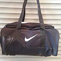 Спортивная, дорожная сумка Nike, Найк черная с искусственной кожей , фото 1