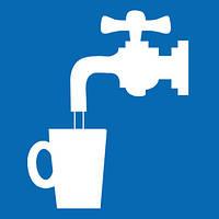 Наклейка: Питьевая Вода 150х150